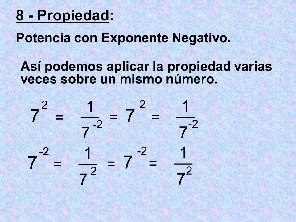 Así podemos aplicar la propiedad varias veces sobre un mismo número.
