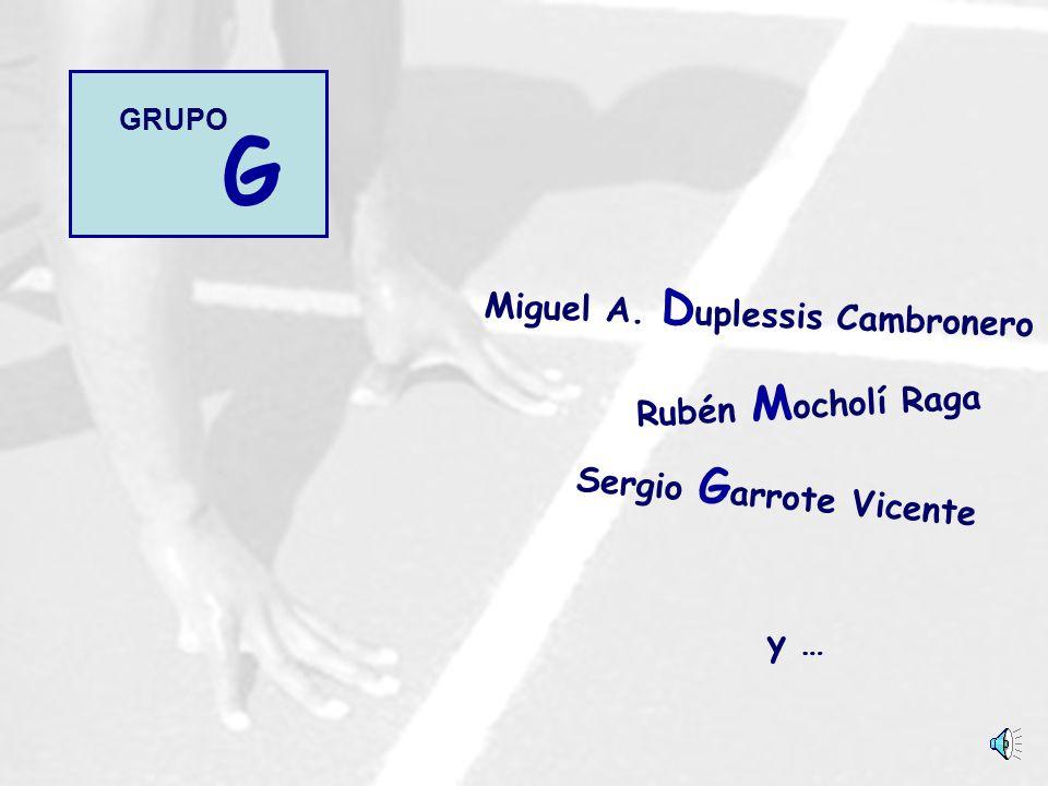 Sergio G arrote Vicente y … Rubén M ocholí Raga Miguel A. D uplessis Cambronero G GRUPO