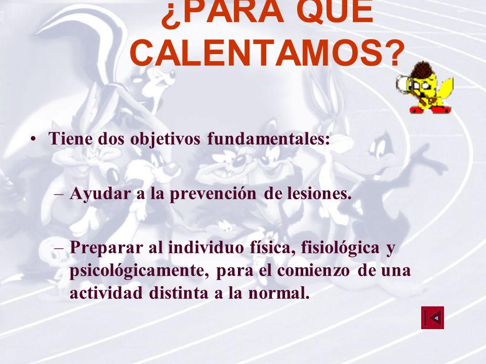TIPOS DE CALENTAMIENTO General Específico Estático Dinámico Mixto Lúdico