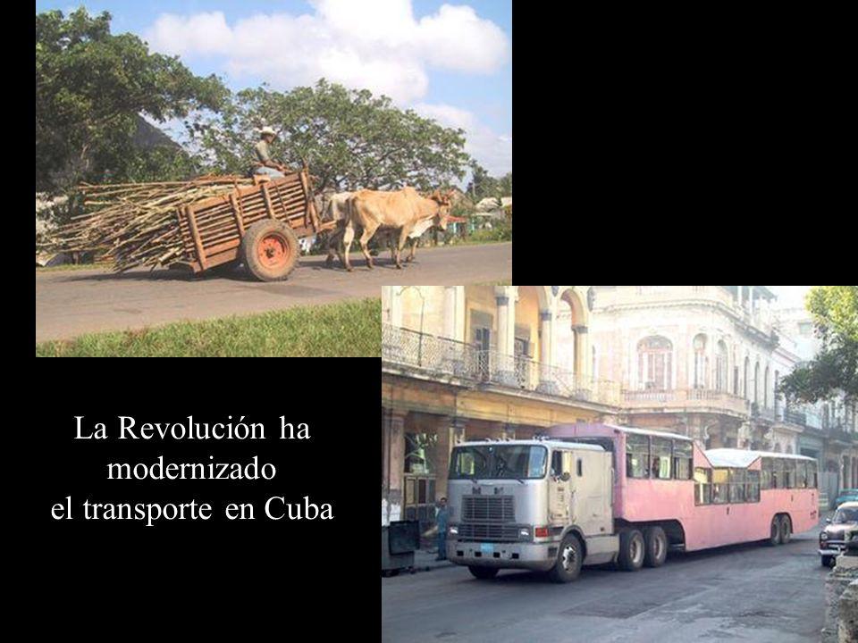 La Revolución solucionó el problema de transporte público.