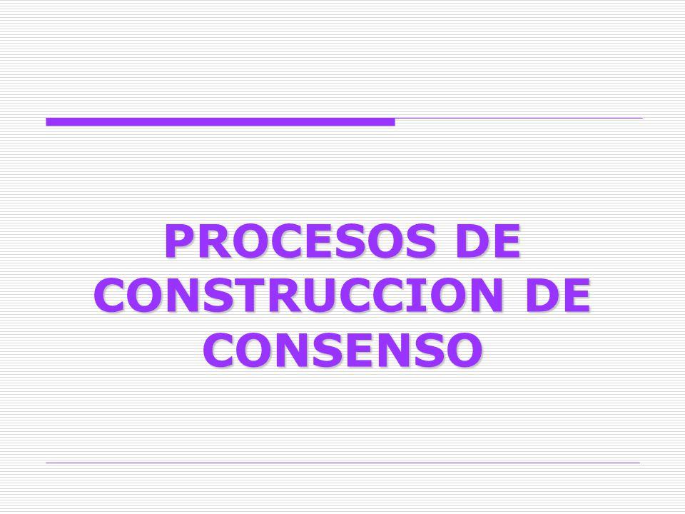 PROCESOS DE CONSTRUCCION DE CONSENSO