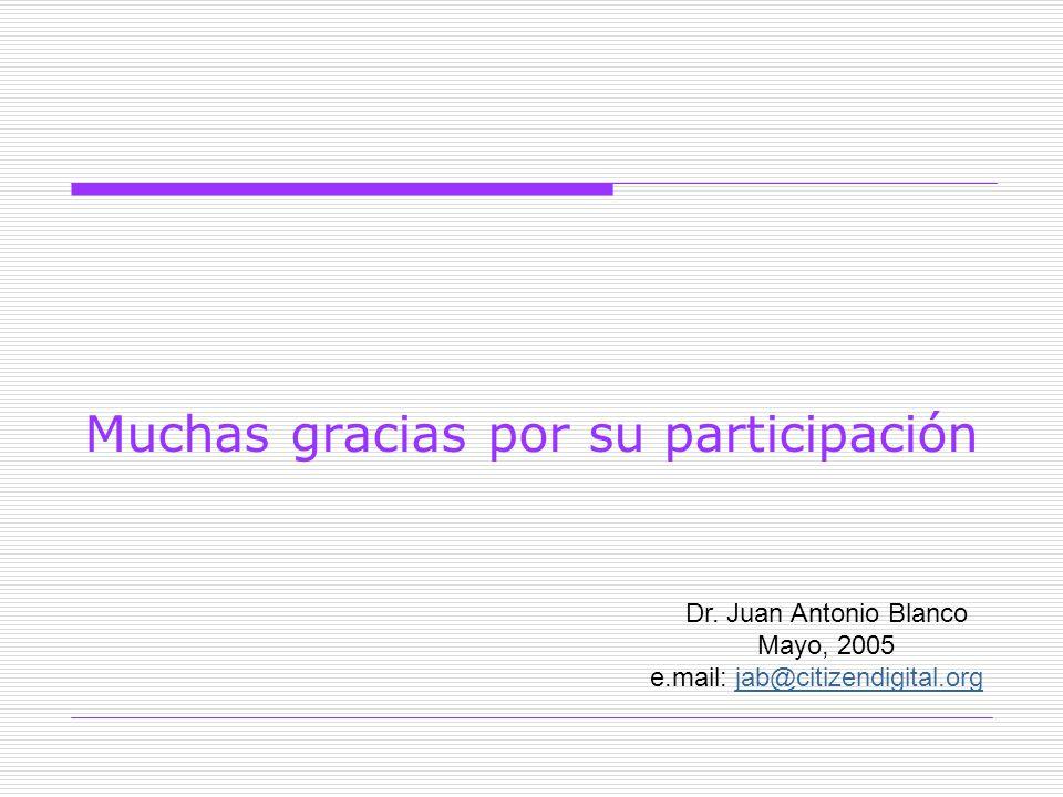 Muchas gracias por su participación Dr.