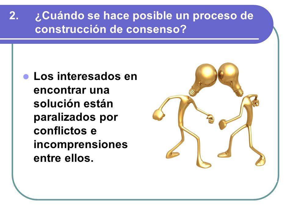 Los interesados en encontrar una solución están paralizados por conflictos e incomprensiones entre ellos.