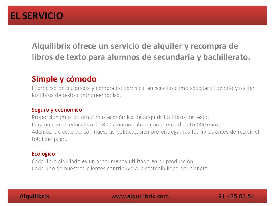Alquilibrix ofrece un servicio de alquiler y recompra de libros de texto para alumnos de secundaria y bachillerato. Simple y cómodo El proceso de búsq