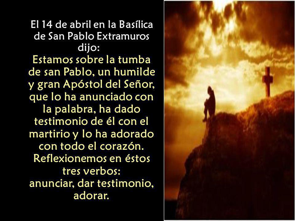 Recemos en modo particular para que los cristianos que sufren persecución sientan la presencia viva y confortante del Señor Resucitado.