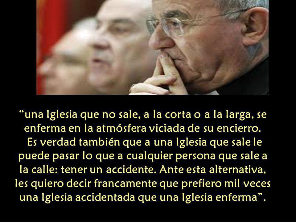 En una carta a Obispos Argentinos dijo: Que el Señor nos libre de maquillar nuestro episcopado con los oropeles de la mundanidad, del dinero y del clericalismo de mercado.