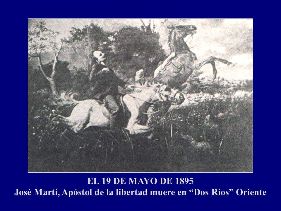 El 25 de Febrero de 1895, a los 42 años de edad lanzó junto con Máximo Gómez, la Proclama conocida como: El Manifiesto de Monte Cristi Y el 10 de Abri