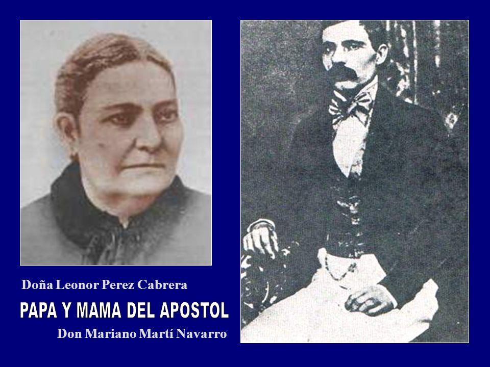 Doña Leonor Perez Cabrera Don Mariano Martí Navarro