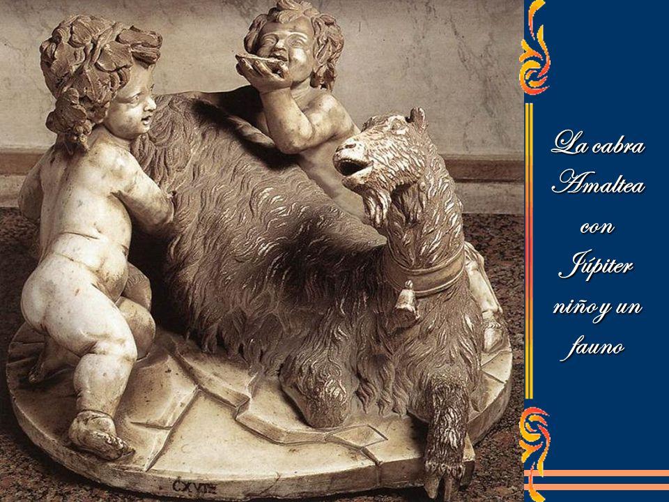 La cabra Amaltea con Júpiter niño y un fauno