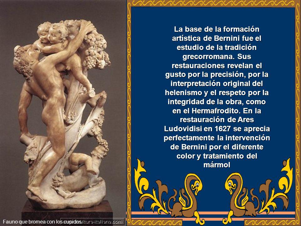La base de la formación artística de Bernini fue el estudio de la tradición grecorromana.