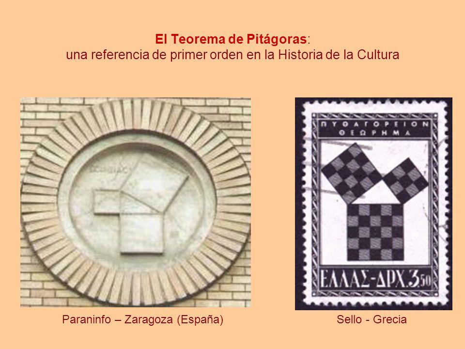 El Teorema de Pitágoras: una referencia de primer orden en la Historia de la Cultura Paraninfo – Zaragoza (España)Sello - Grecia