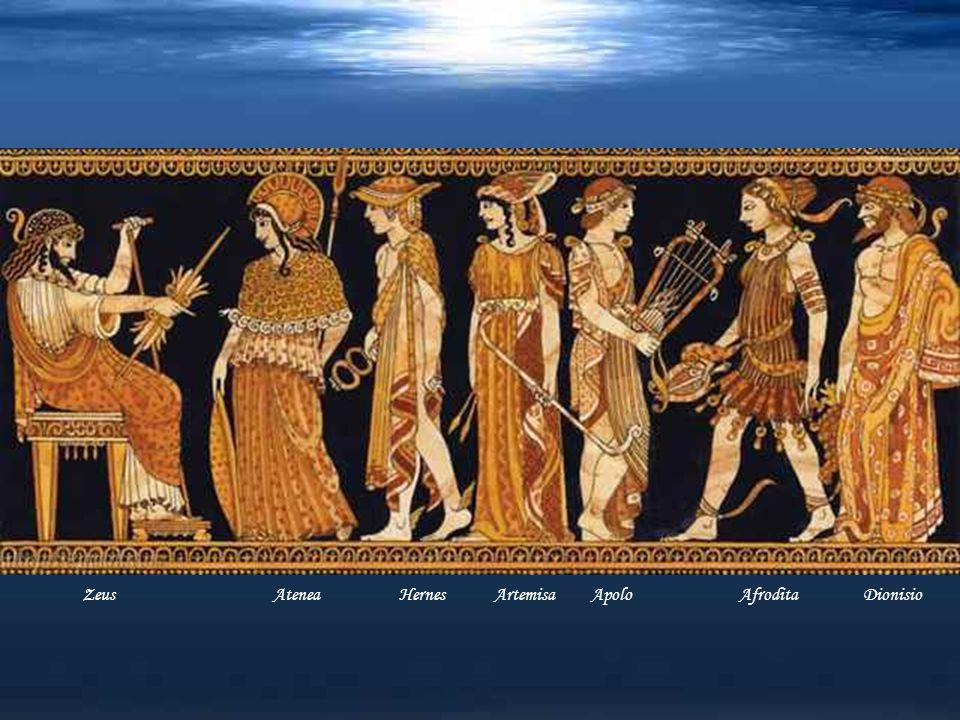 Zeus Atenea Hernes Artemisa Apolo Afrodita Dionisio