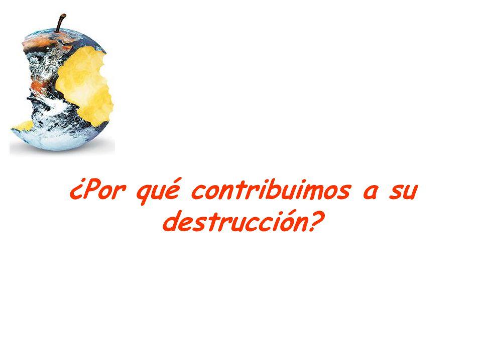¿Por qué contribuimos a su destrucción?