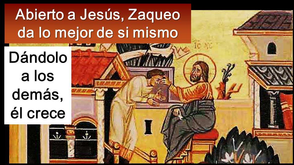 Pero Zaqueo se puso en pie y dijo al Señor: Mira, la mitad de mis bienes, Señor, se la doy a los pobres; y si de alguno me he aprovechado, le restituiré cuatro veces más.