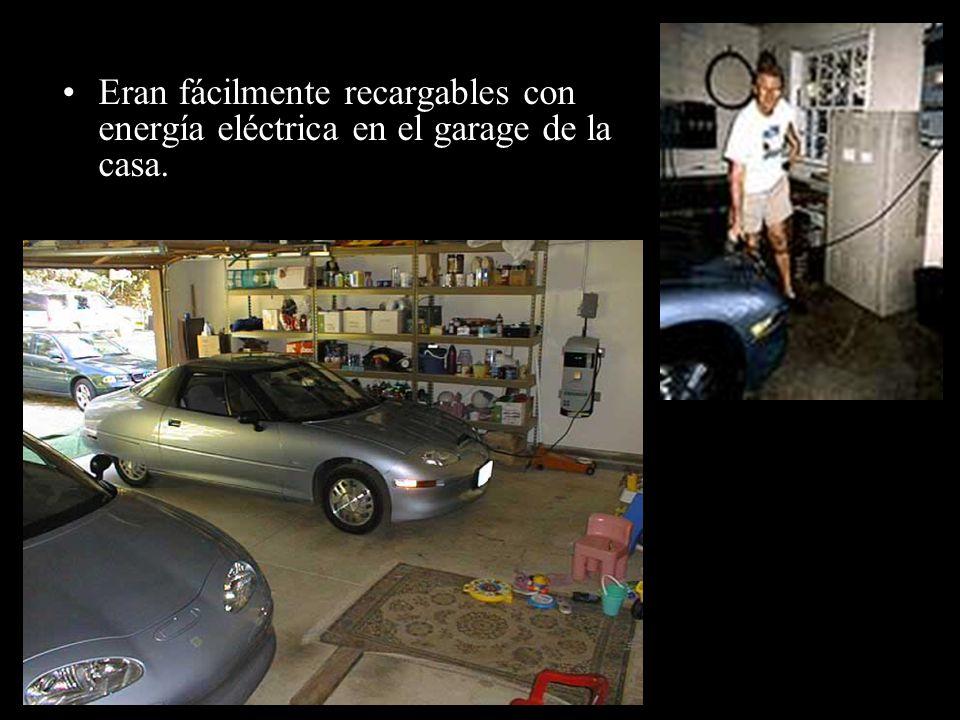 Eran fácilmente recargables con energía eléctrica en el garage de la casa.
