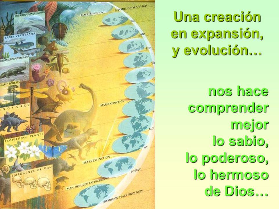 nos hace comprender mejor lo sabio, lo poderoso, lo hermoso de Dios… Una creación en expansión, y evolución…