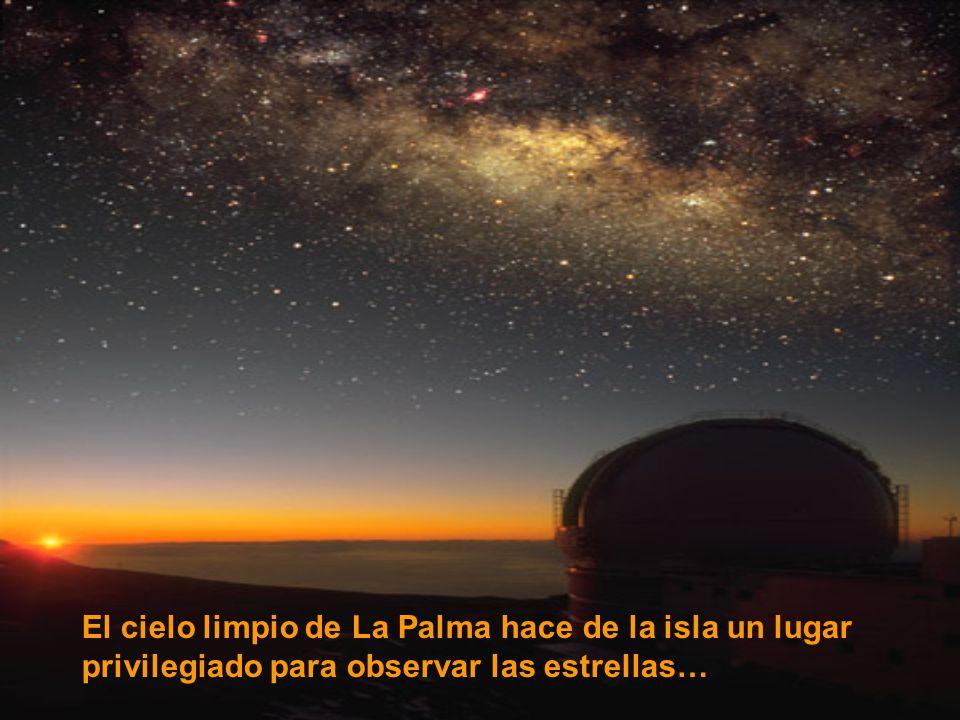 El cielo limpio de La Palma hace de la isla un lugar privilegiado para observar las estrellas…