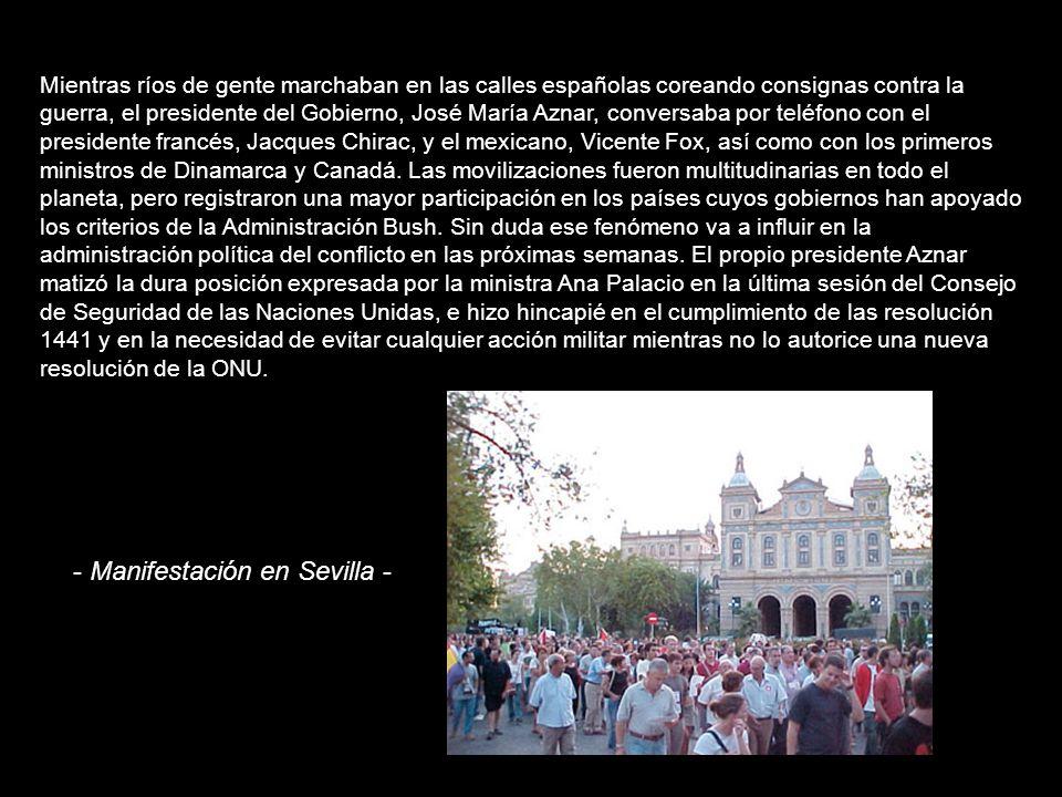 Contra la guerra, más que nunca (16/02/2003) España entera vivió ayer la mayor movilización de su historia, y Barcelona, con un millón muy largo de ma