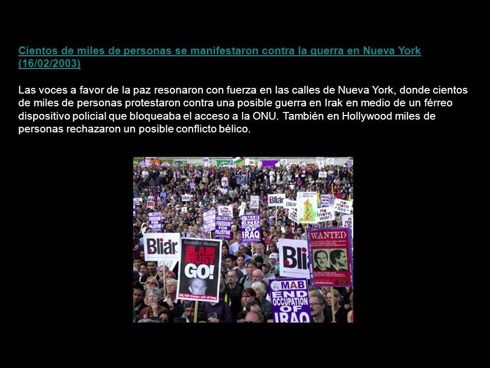 Mientras ríos de gente marchaban en las calles españolas coreando consignas contra la guerra, el presidente del Gobierno, José María Aznar, conversaba