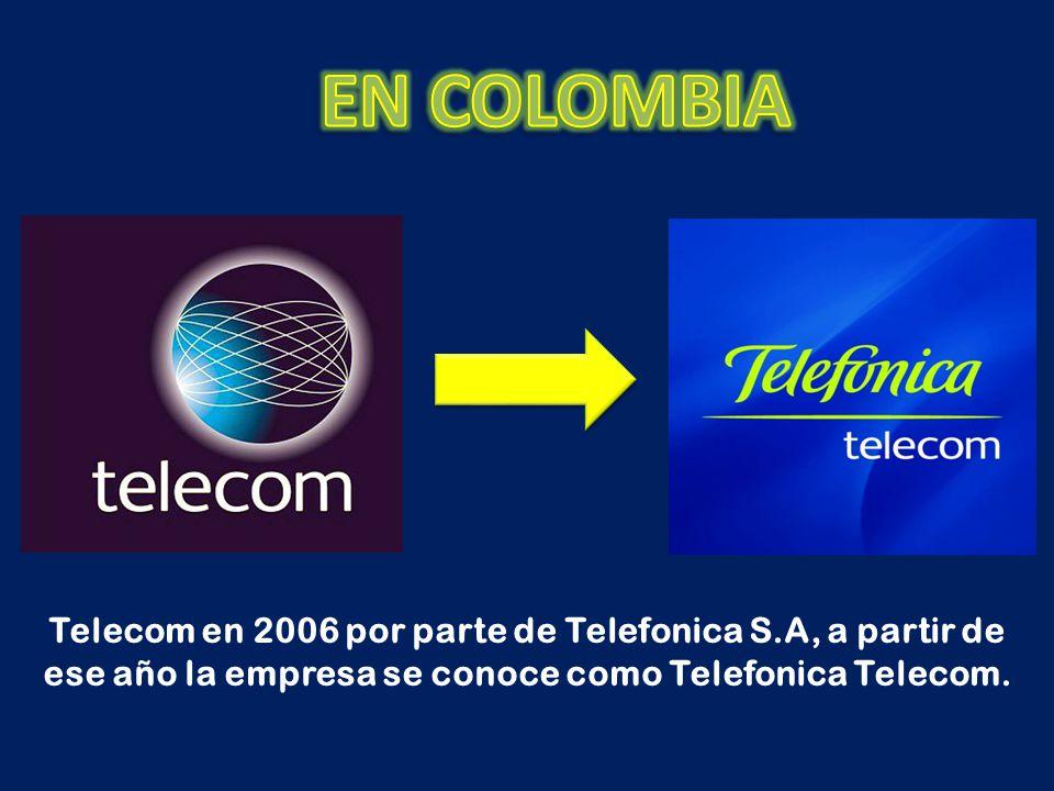 Telecom en 2006 por parte de Telefonica S.A, a partir de ese año la empresa se conoce como Telefonica Telecom.
