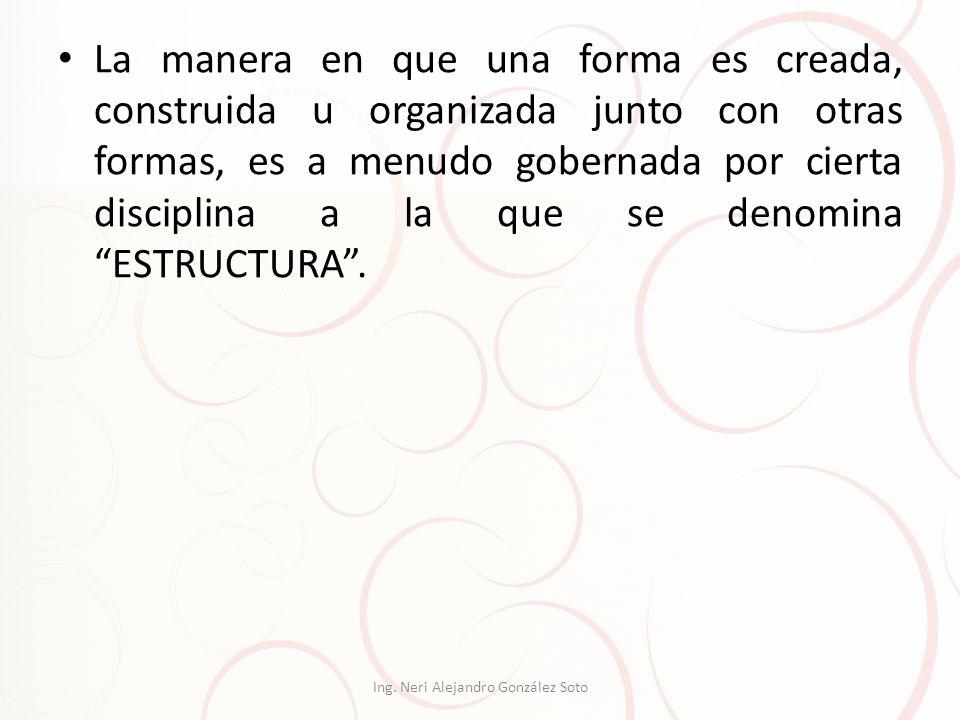 La manera en que una forma es creada, construida u organizada junto con otras formas, es a menudo gobernada por cierta disciplina a la que se denomina