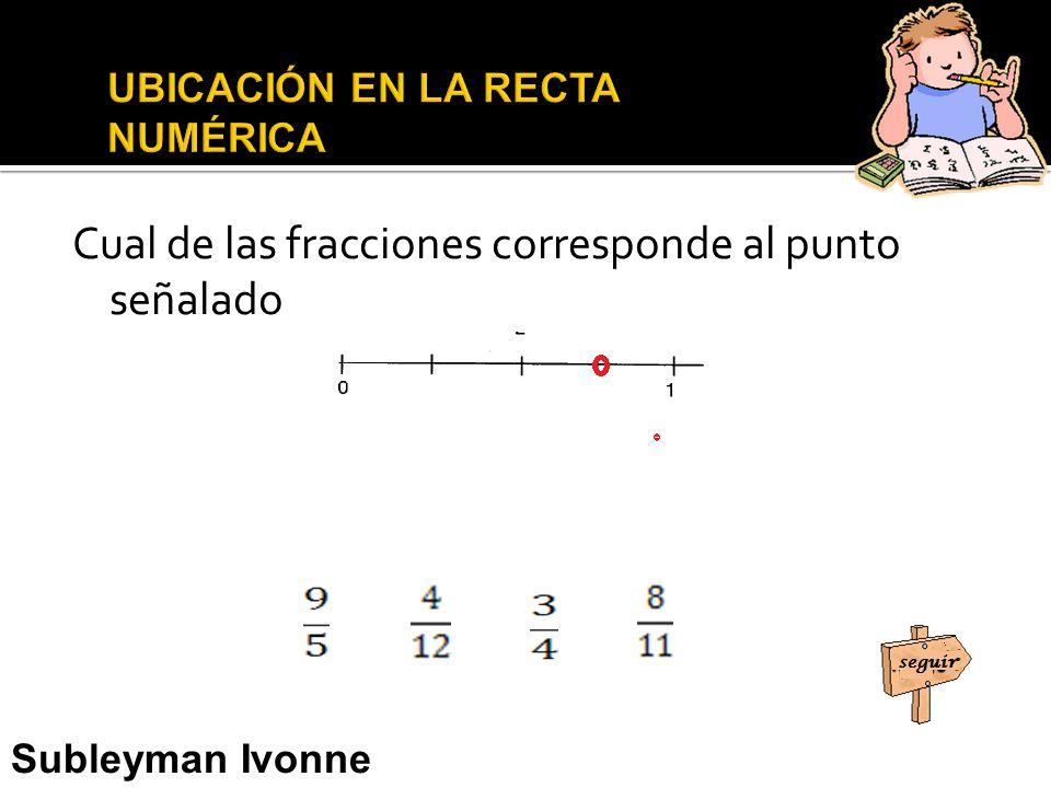 Cual de las fracciones corresponde al punto señalado Subleyman Ivonne Usman Narváez