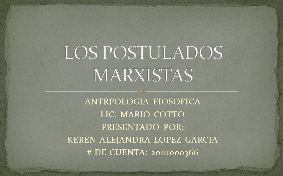 ANTRPOLOGIA FIOSOFICA LIC. MARIO COTTO PRESENTADO POR: KEREN ALEJANDRA LOPEZ GARCIA # DE CUENTA: 20111000366