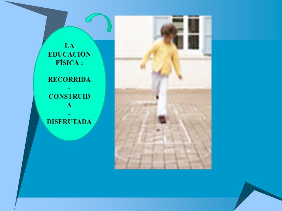 LA EDUCACIÓN FÍSICA : - RECORRIDA - CONSTRUID A - DISFRUTADA