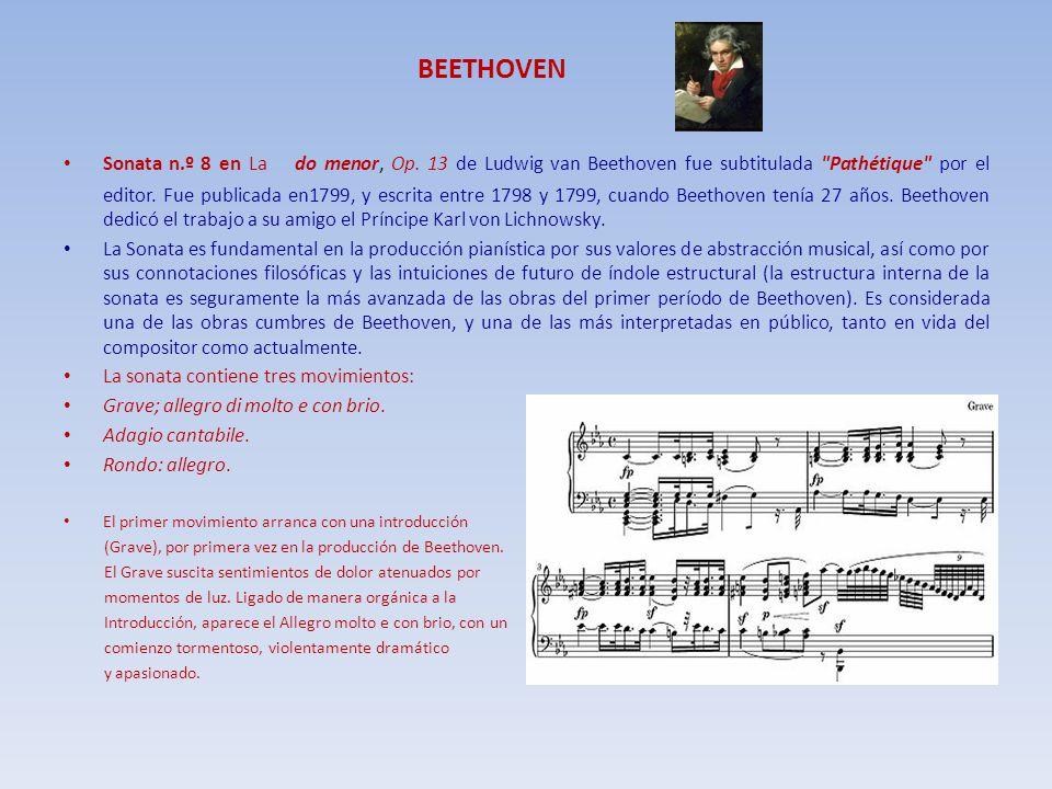 BEETHOVEN Sonata n.º 8 en La do menor, Op. 13 de Ludwig van Beethoven fue subtitulada