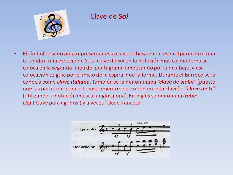 CLAVE DE FA La clave de fa que se sitúa en la cuarta línea del pentagrama, se denomina clave de fa en cuarta y hace más tiempo se denominaba también clave de bajo, ya que para la música vocal la partitura de los bajos estaba escrita en esta clave.