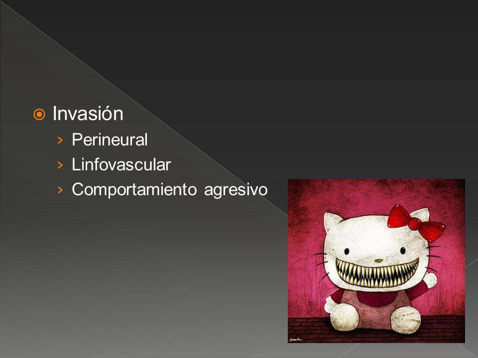Invasión Perineural Linfovascular Comportamiento agresivo