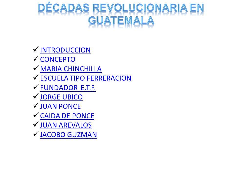 INTRODUCCION CONCEPTO MARIA CHINCHILLA ESCUELA TIPO FERRERACION FUNDADOR E.T.F.