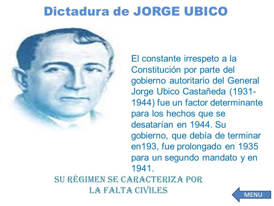 Dictadura de JORGE UBICO El.