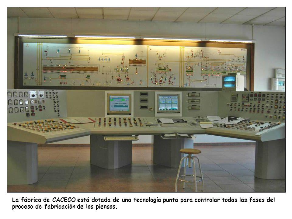 La fábrica de CACECO está dotada de una tecnología punta para controlar todas las fases del proceso de fabricación de los piensos.