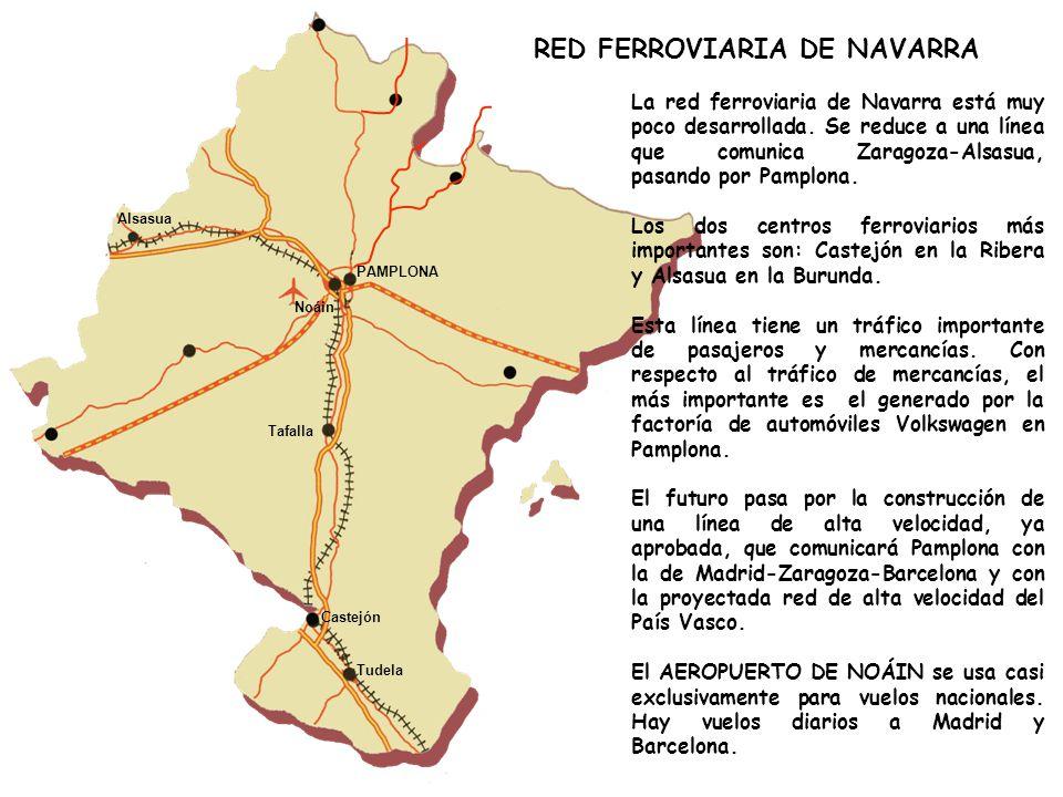 La red ferroviaria de Navarra está muy poco desarrollada.