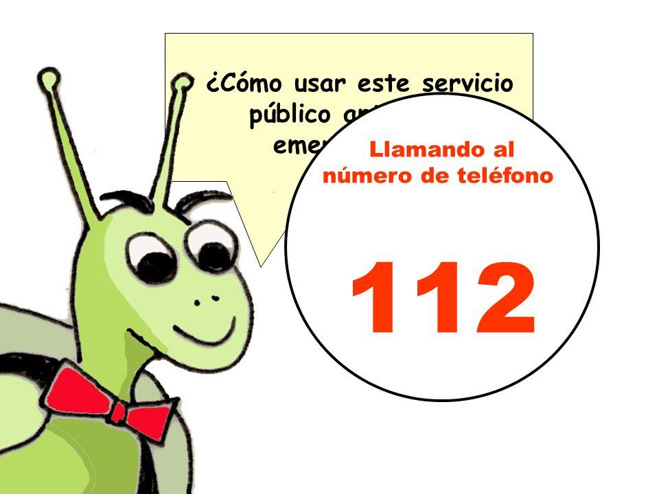 ¿Cómo usar este servicio público ante una emergencia? Llamando al número de teléfono 112