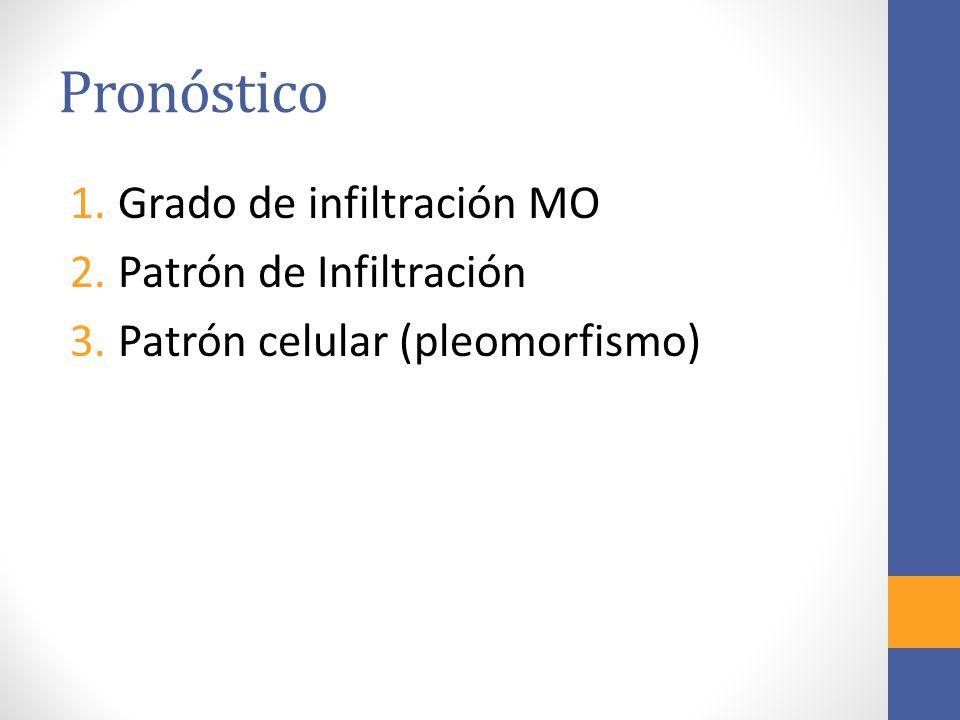 Pronóstico 1.Grado de infiltración MO 2.Patrón de Infiltración 3.Patrón celular (pleomorfismo)
