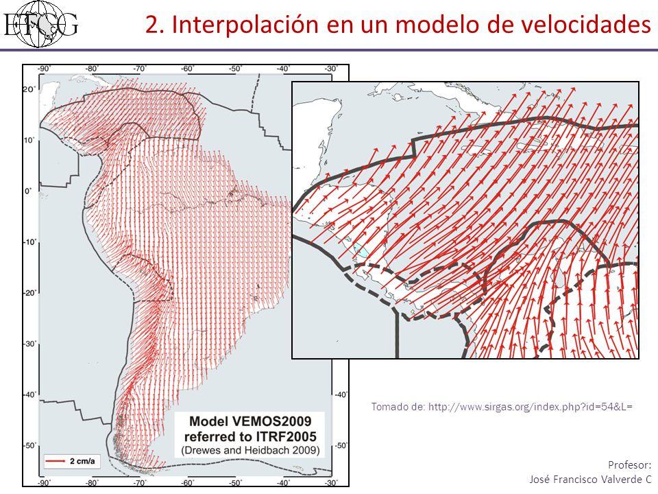 Coordenadas de los puntos a interpolar Abrir el Command Prompt Diseño Geodésico I I Ciclo, 2014 Profesor: José Francisco Valverde C 2.