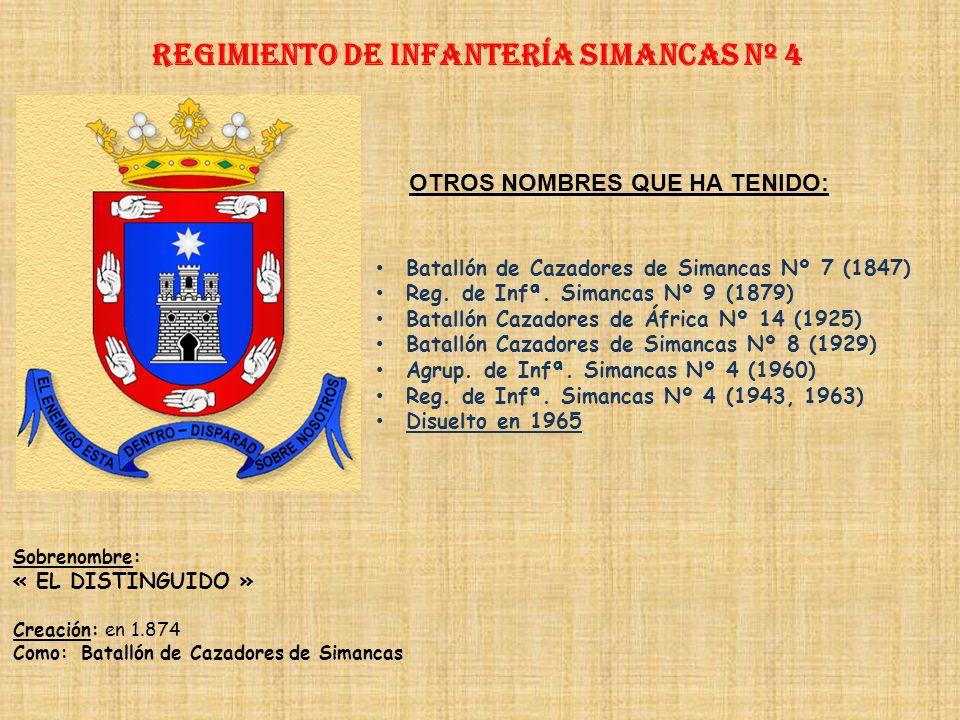 Regimiento de Infantería DE LA REINA nº 2 Regimiento de Infantería DE LA PRINCESA nº 4 PRINCIPALES HECHOS DE ARMAS Guerras de África (1774, 1859-1860,