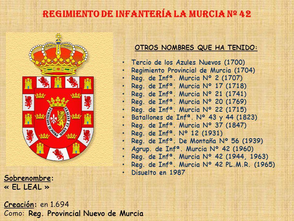 Regimiento de Infantería DE LA REINA nº 2 Regimiento de Infantería baleares nº 42 PRINCIPALES HECHOS DE ARMAS Guerra de Cuba (1895-1898) Guerras de Áf