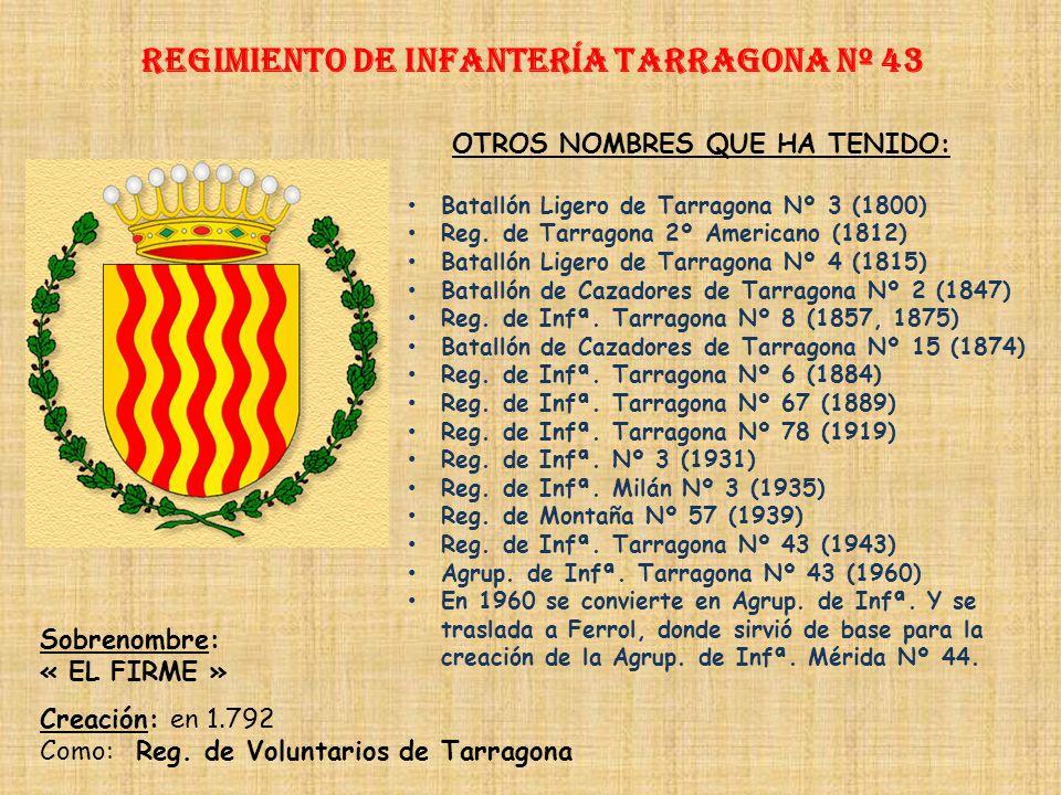 Regimiento de Infantería DE LA REINA nº 2 Regimiento de Infantería de la murcia nº 42 PRINCIPALES HECHOS DE ARMAS Guerras con Francia (1694-1697, 1793