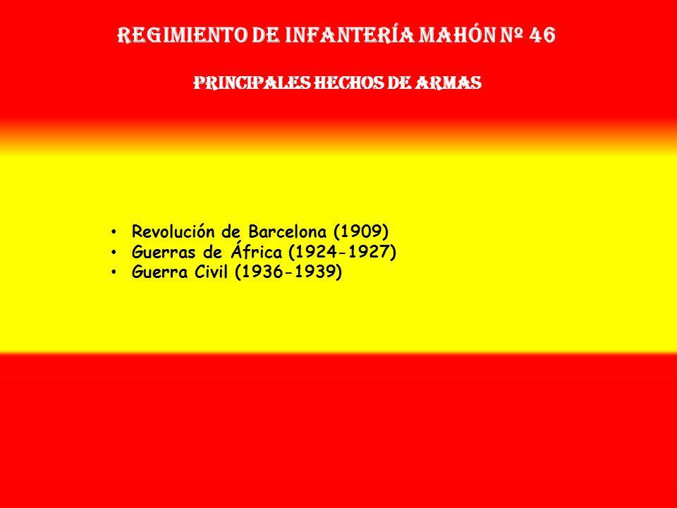 Sobrenombre: No Tiene Creación: en 1.877 Como: Regimiento de Infantería Mindanao Nº 56 OTROS NOMBRES QUE HA TENIDO: Reg. de Infª. Baza Nº 56 (1889) Re