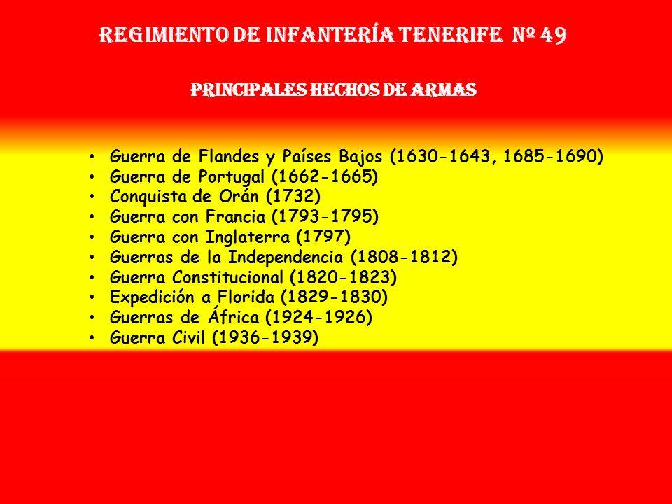 Sobrenombre: No Tiene Creación: en 1.692 Como: Tercio de Infantería de Isla Tenerife OTROS NOMBRES QUE HA TENIDO: Tercio de Alvarado (1662) Tercio de