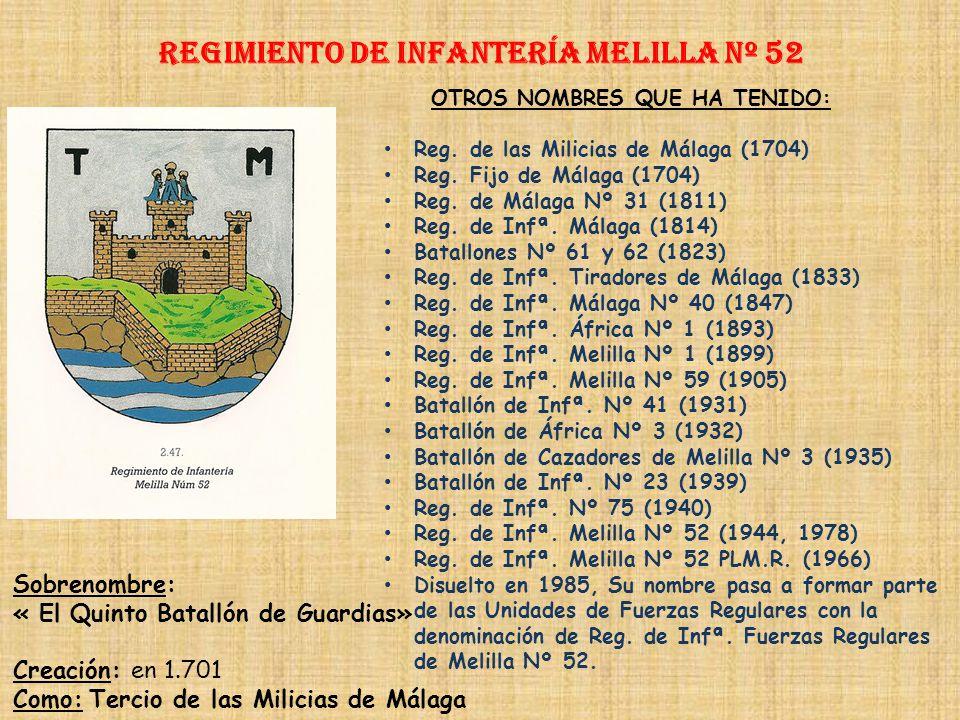 Regimiento de Infantería DE LA REINA nº 2 Regimiento de Infantería Toledo nº 35 PRINCIPALES HECHOS DE ARMAS Guerras de África (1893, 1909-1910, 1911-1