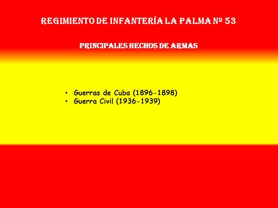 Sobrenombre: No Tiene Creación: en 1.896 Como: Batallón Provisional de Canarias OTROS NOMBRES QUE HA TENIDO: Batallón de Cazadores de Canarias (1900)