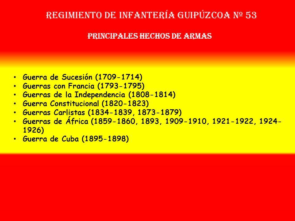 Sobrenombre: « LOS CHAPELGORRIS » Creación: en 1.709 Como: Regimiento Nuevo de Guipúzcoa OTROS NOMBRES QUE HA TENIDO: Batallón de Voluntarios de Guipú