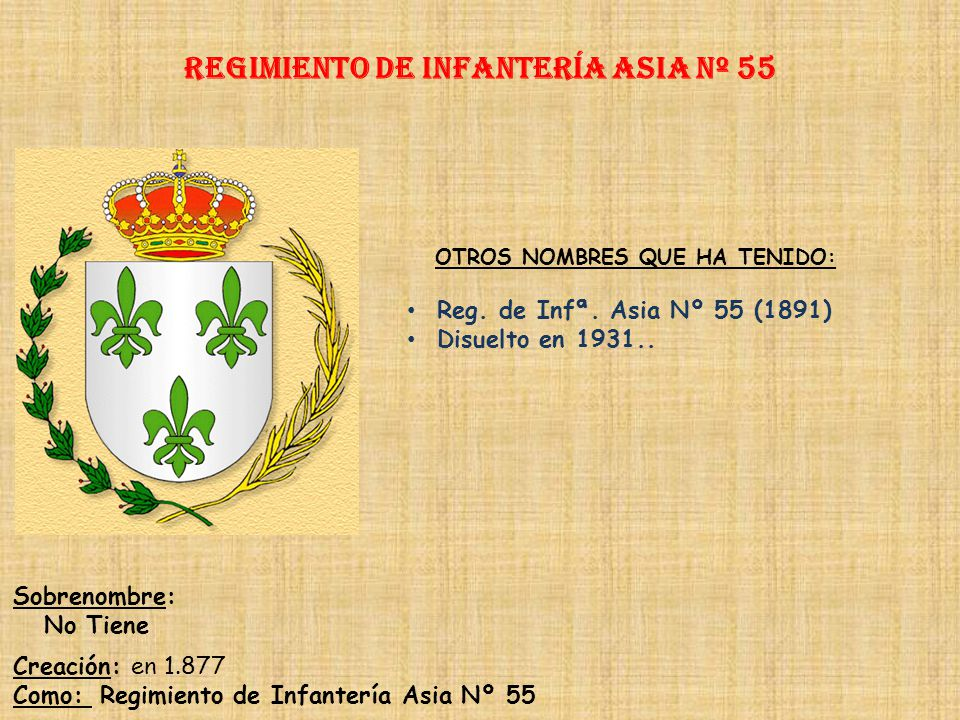 Regimiento de Infantería DE LA REINA nº 2 Regimiento de Infantería ceuta nº 54 PRINCIPALES HECHOS DE ARMAS Defensa de Ceuta (1694, 1734, 1744, 1751-17