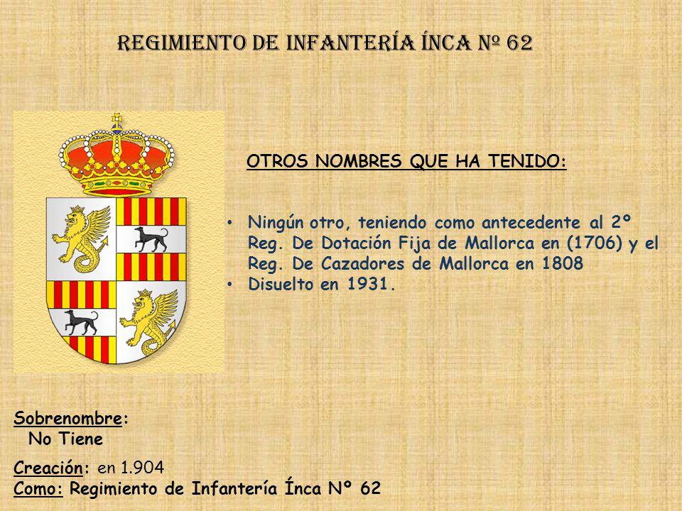 Regimiento de Infantería DE LA REINA nº 2 Regimiento de Infantería arapiles nº 62 PRINCIPALES HECHOS DE ARMAS Guerras de Portugal (1642-1645, 1663-166