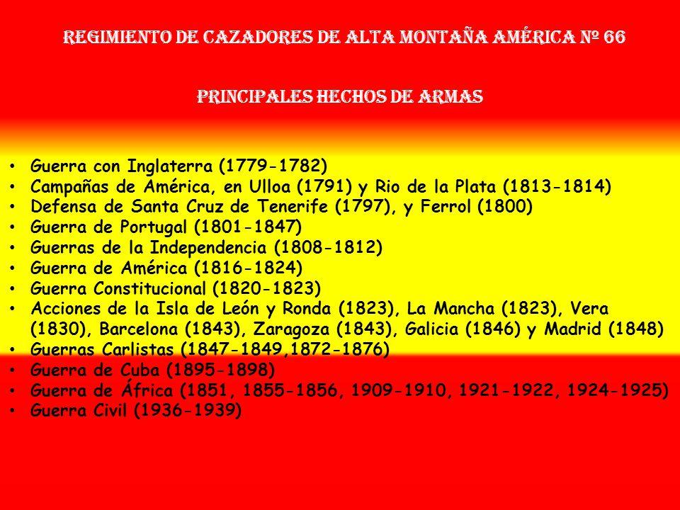 Sobrenombre: « EL BENEMÉRITO DE LA PATRIA » Creación: en 1.764 Como: Regimiento Real de América OTROS NOMBRES QUE HA TENIDO: Reg. de Infª. América Nº