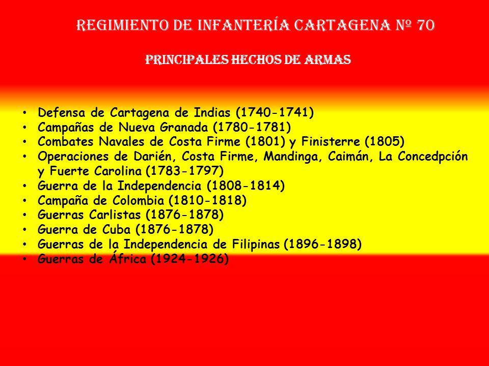 Sobrenombre: No Tiene Creación: en 1.716 Como: Compañías Fijas de Cartagena de Indias OTROS NOMBRES QUE HA TENIDO: Batallón Fijo de Cartagena de India